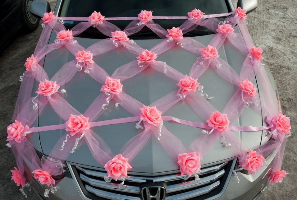 Сделать украшение из фатина на машину своими руками 8