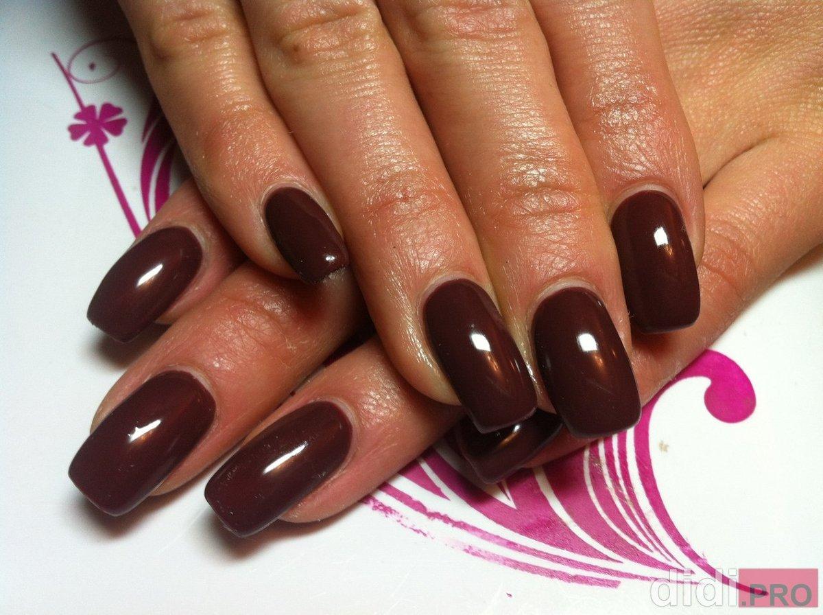 Шоколадные цвета геля для ногтей фото