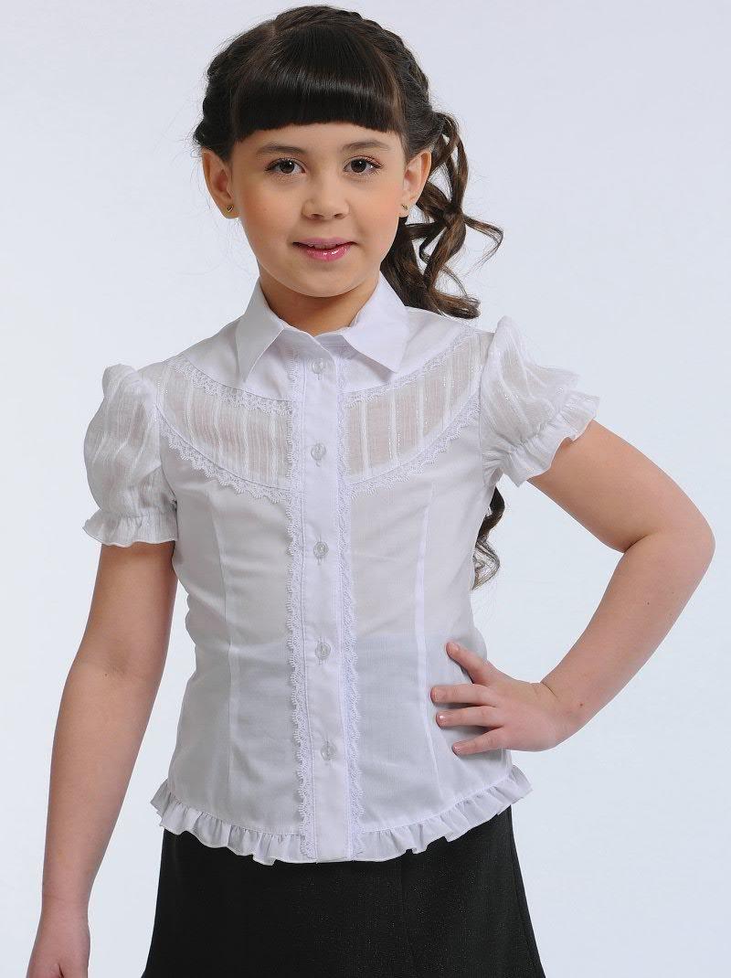 Сшить блузку в школу для девочки своими руками
