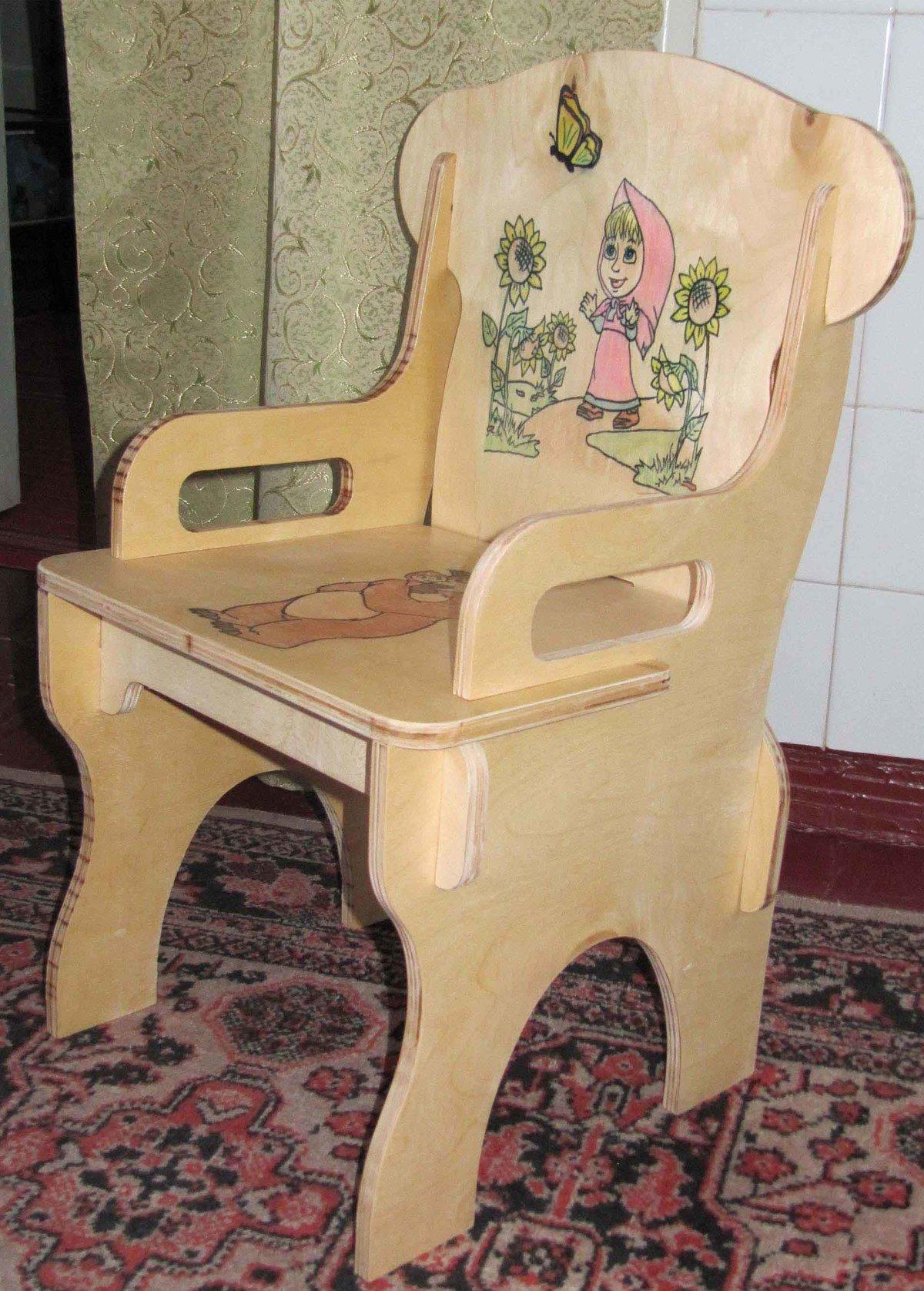Маленькие стульчики из фанеры своими руками 69