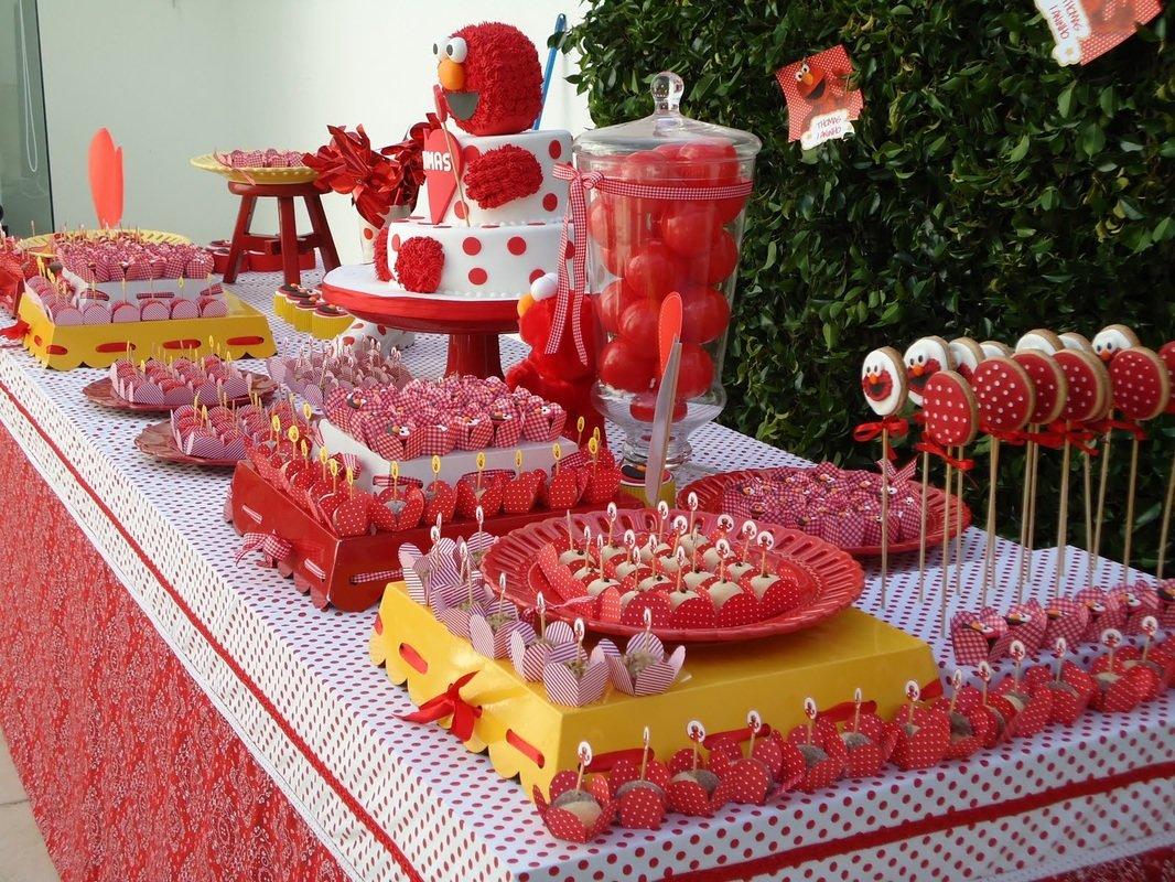 Фото праздничного стола для детей
