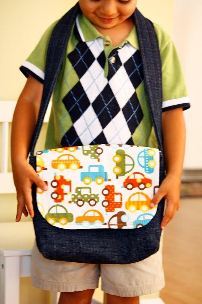 Как сшить сумку для школы 42
