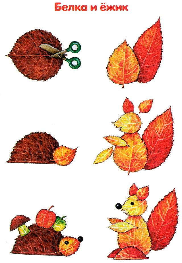 Композиции из листьев своими руками 32