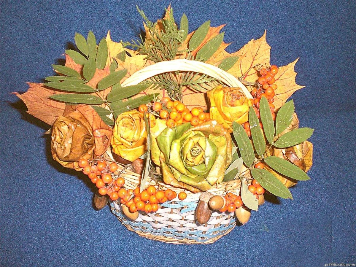 Осенний букет: поделки из природного материала творчсть 39