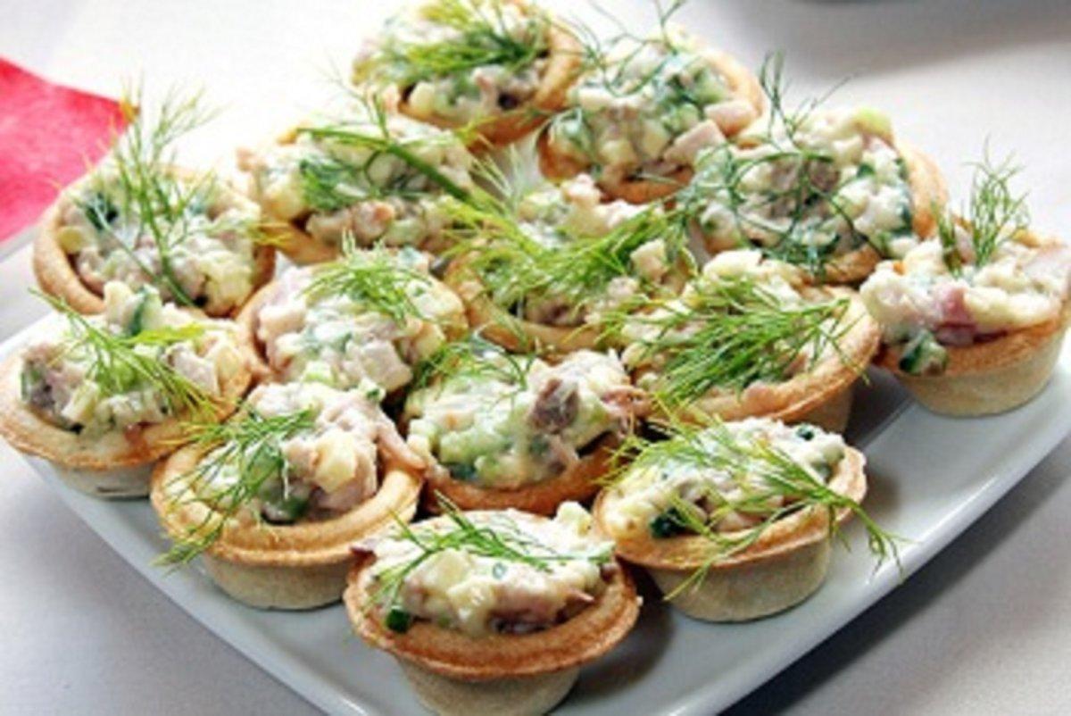 Салат с рыбой для тарталеток рецепты с