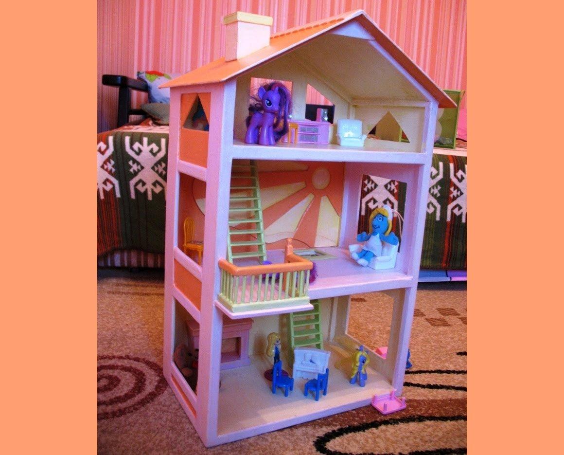 Кукольный домик своими руками - 66 фото создания игрушечного 73