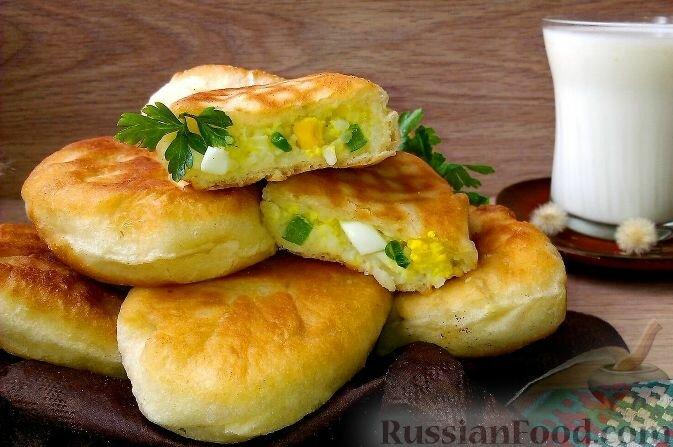 Вкусные пирожки с рисом и яйцом в духовке пошаговый рецепт с на