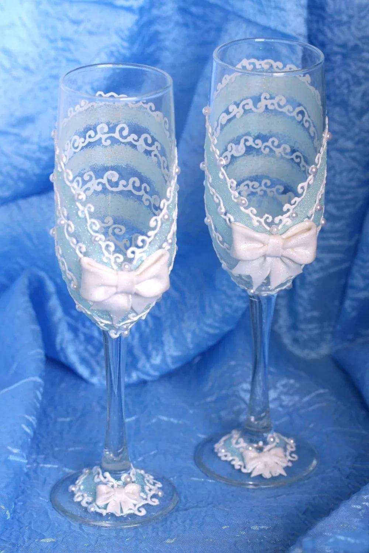 Как украсить бокалы на свадьбу своими руками: идеи декора