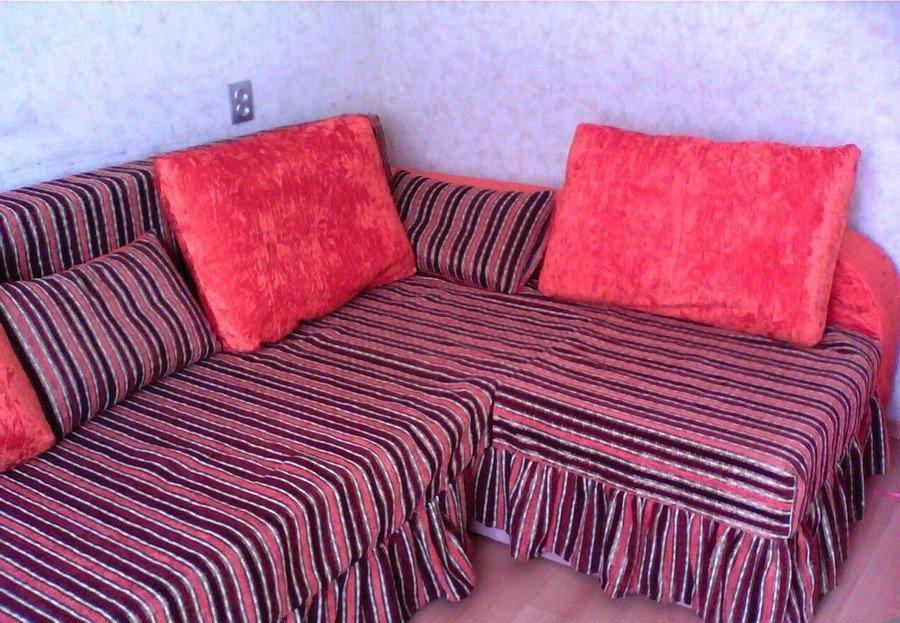Как быстро сшить чехол на угловой диван 24