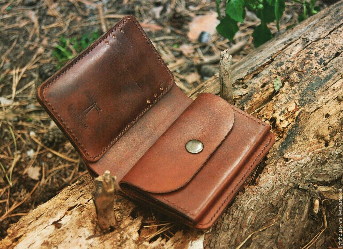 Шьем кошелек из натуральной кожи Ярмарка Мастеров