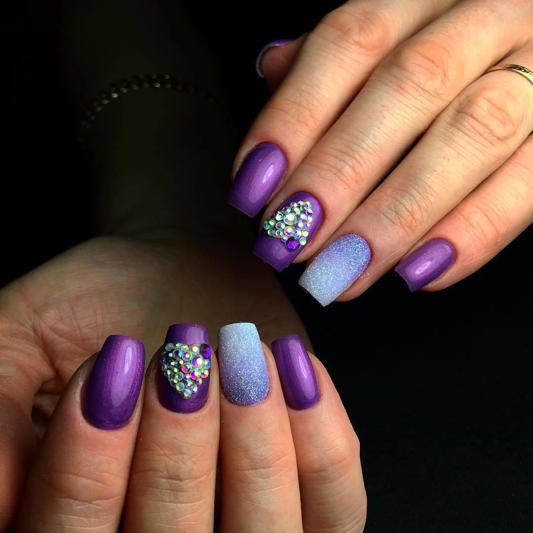 Дизайн ногтей сиреневого цвета фото