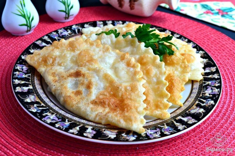 Крымские чебуреки рецепт с фото пошаговый с водкой