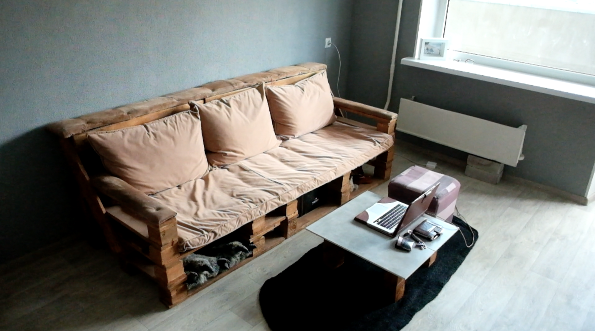 Как сделать диван из столика 225