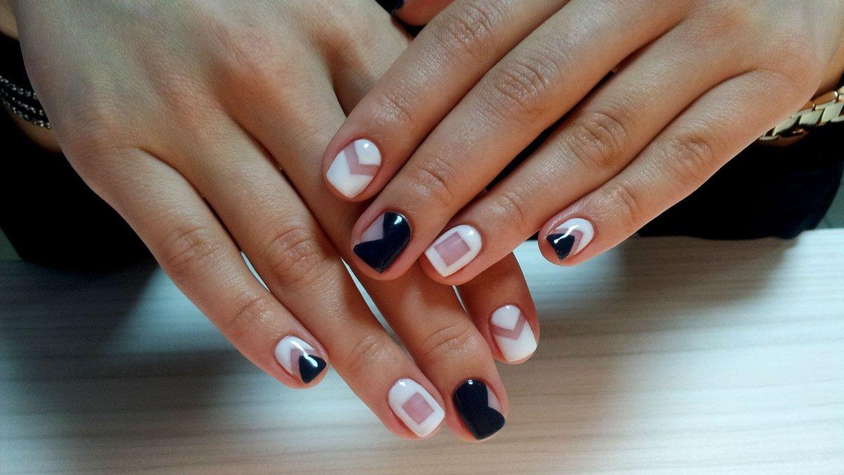 Покрытие гель лаком фото дизайн на очень короткие ногти
