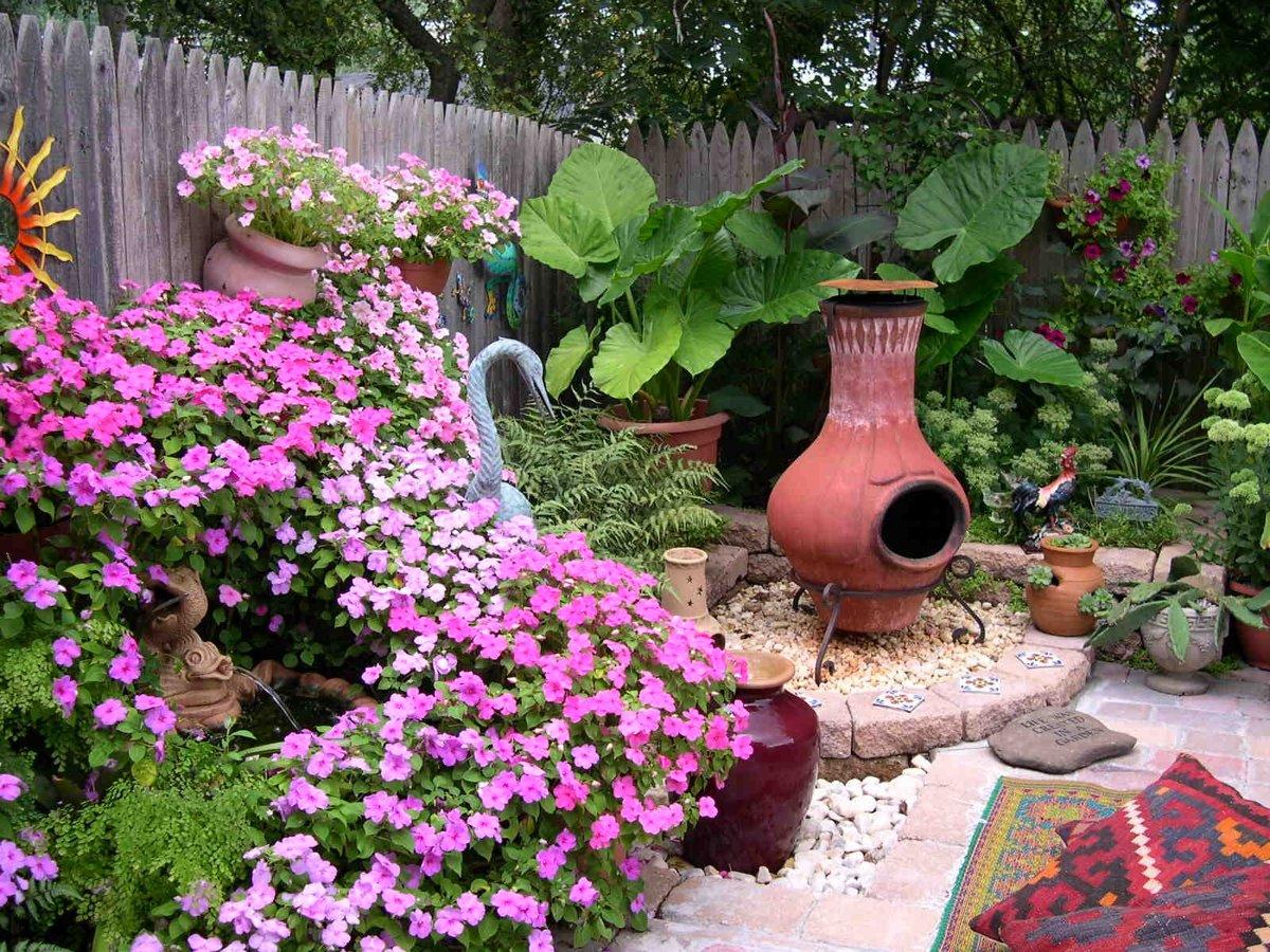 Сад с цветами своими руками фото