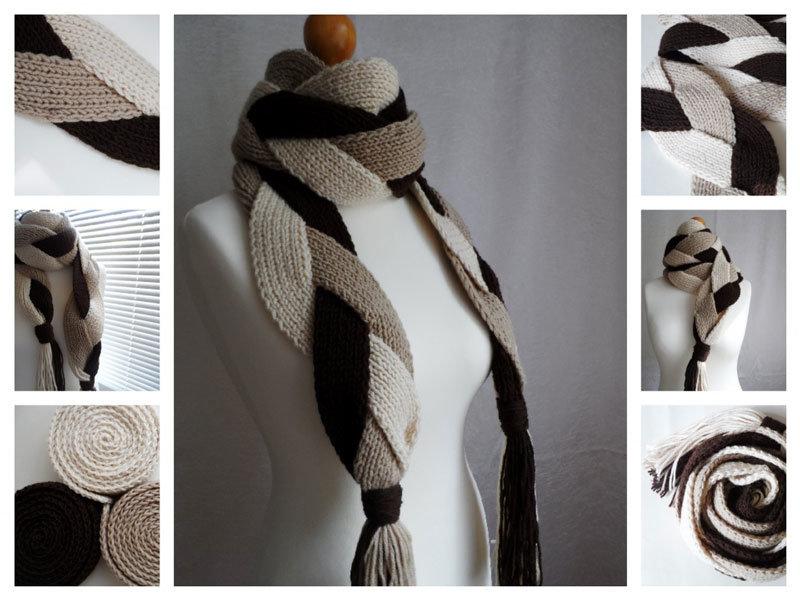 Дизайнерский шарф своими руками 100