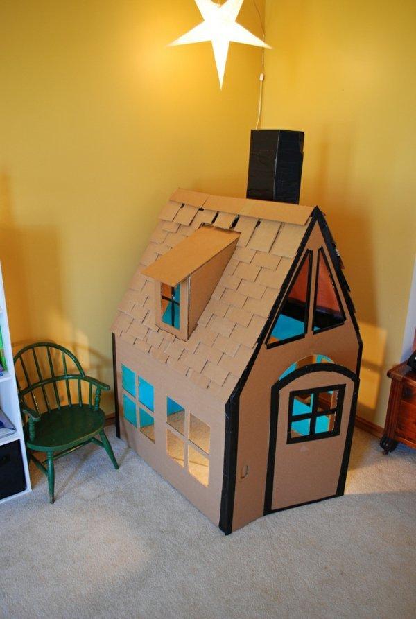 Своими руками картонный домик для детей 49