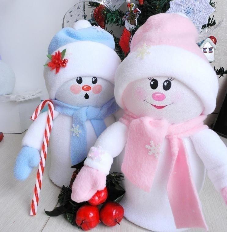 Украшение снеговика своими руками 95
