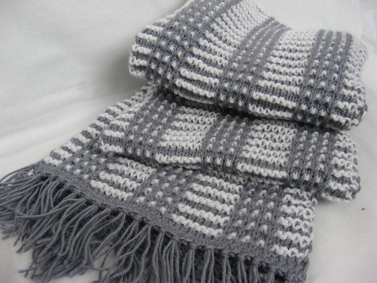 Вязание крючкоммужские шарфы 24
