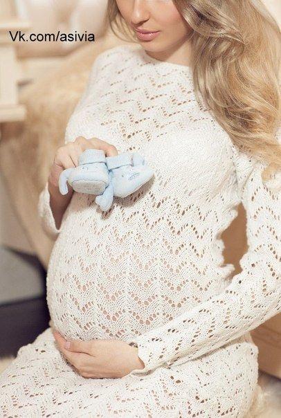 Платье для беременных связать 81