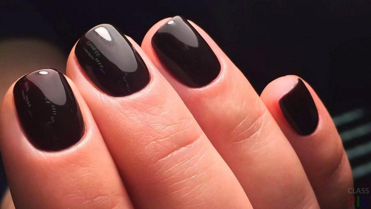 Темный цвет ногтей фото