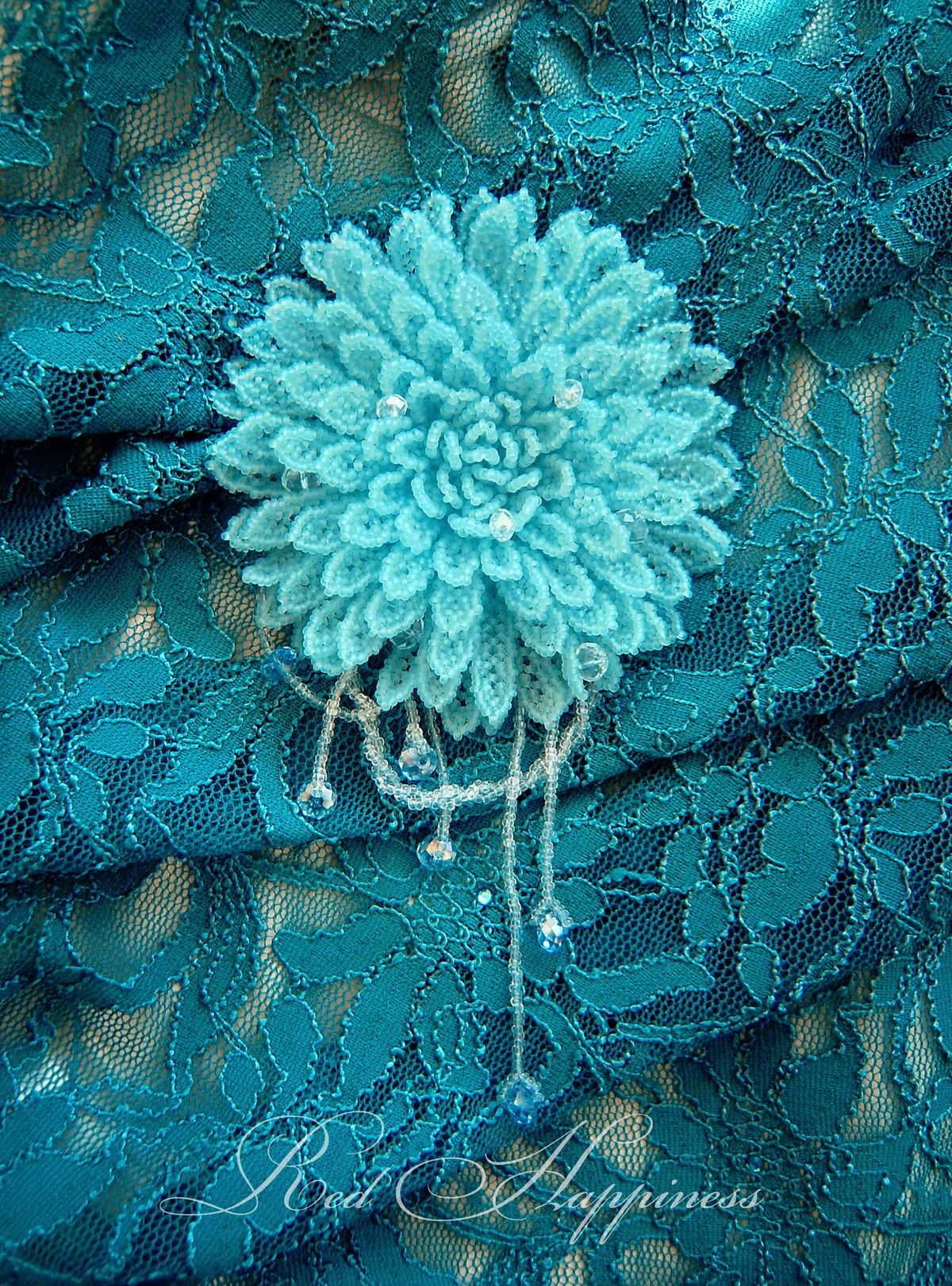 Брошь хризантема из бисера мастер класс с пошаговым