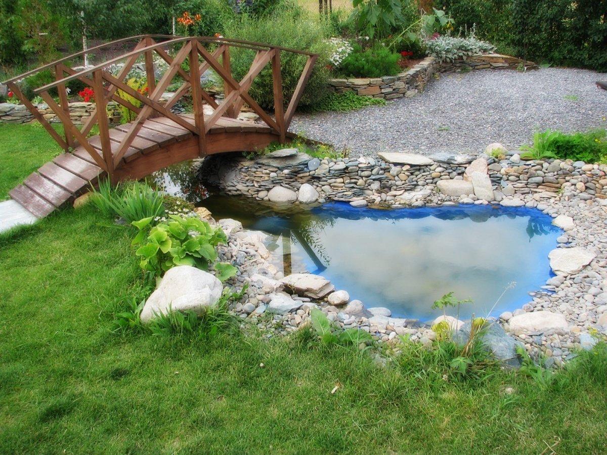 Как сделать пруд из камней и пленки