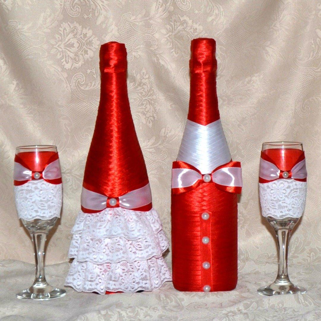 Шампанское на свадьбу в красном