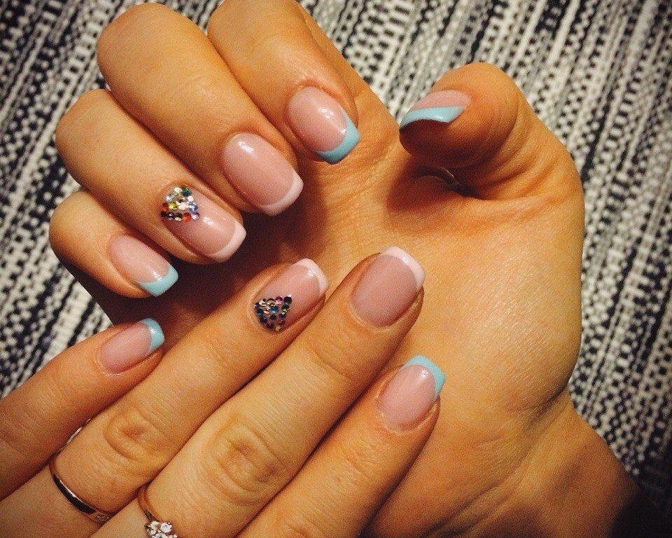 Френч ногтей разных цветов 192