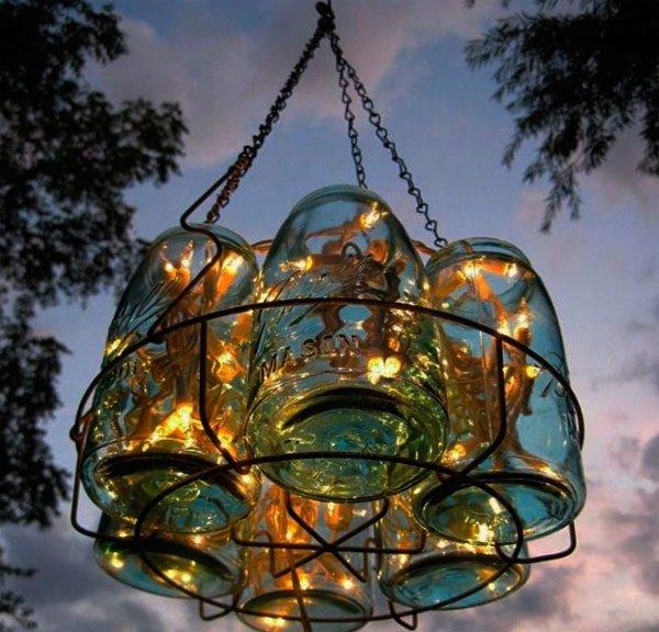 Светильник для дачи своими руками из подручных материалов 75