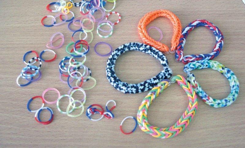 Резиновый браслет плетение