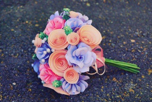 Букеты цветы из бумаги своими руками