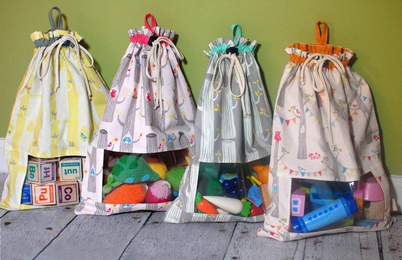 Мешок для игрушек своими руками из ткани 295