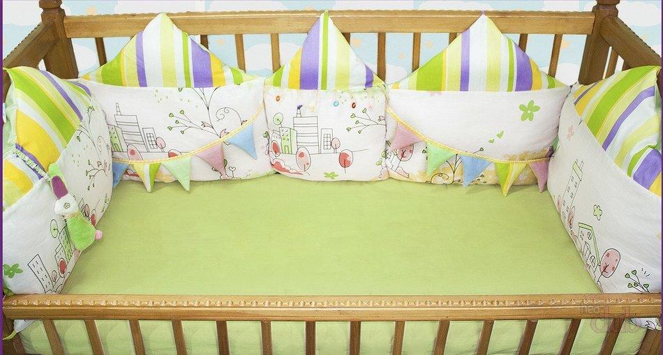 Бортики для детской кроватки своими руками мастер 880