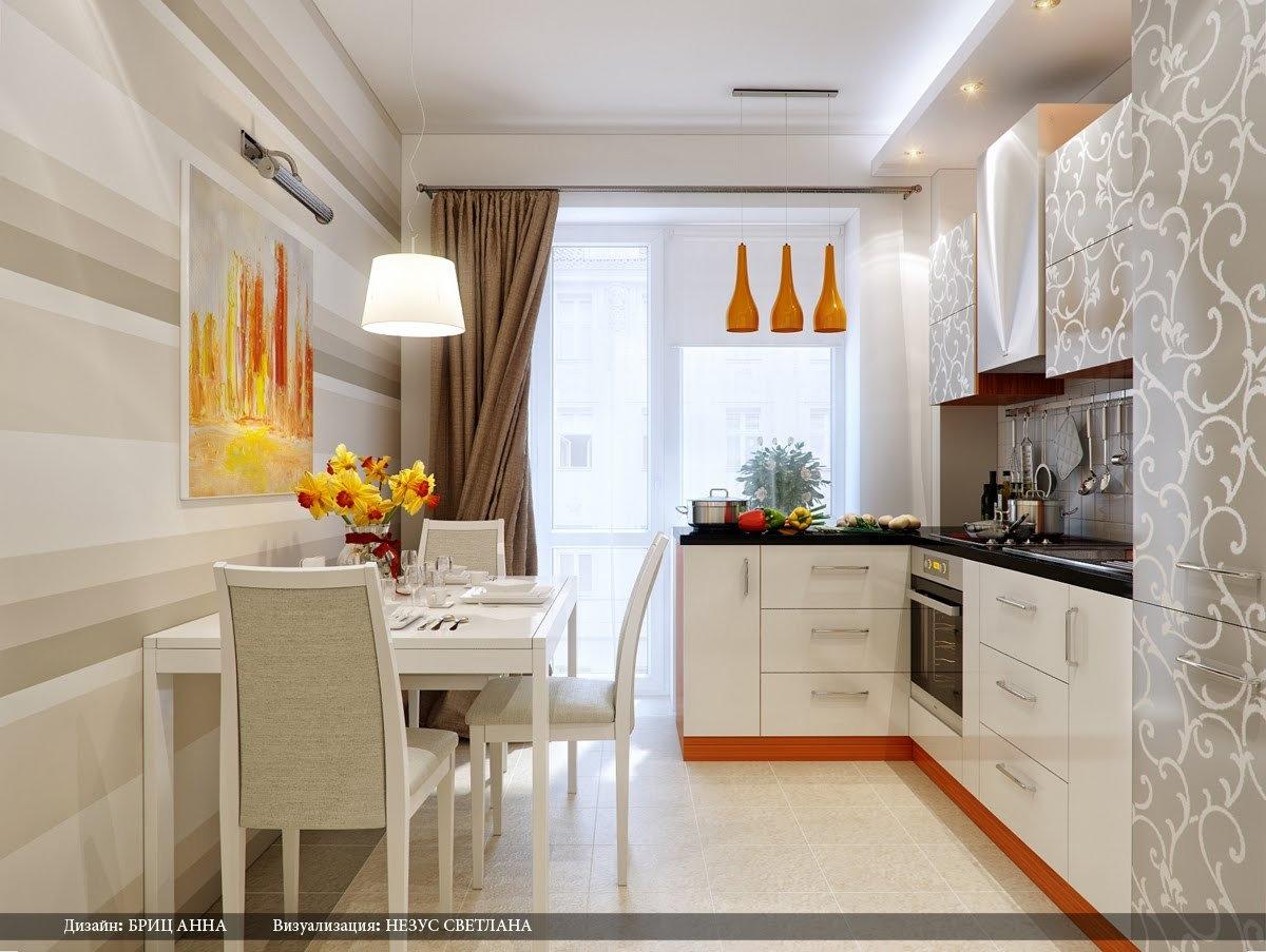 Дизайн кухни комнаты 2018