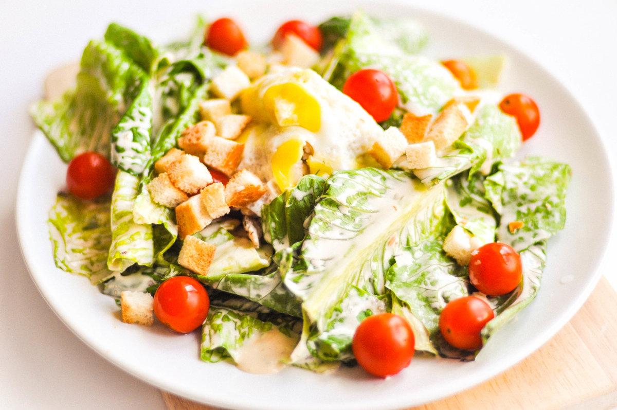 Салат цезарь рецепт как в кафе