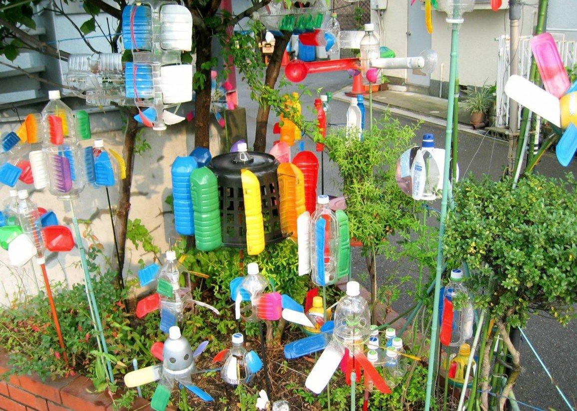 Поделки в детский сад на площадку из пластиковых бутылок
