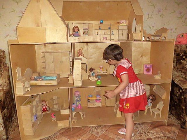 Как сделать маленький домик игрушечный своими руками 53