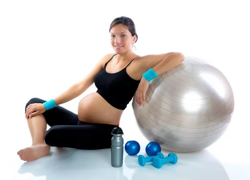 Упражнение для беременных в спортзале 46
