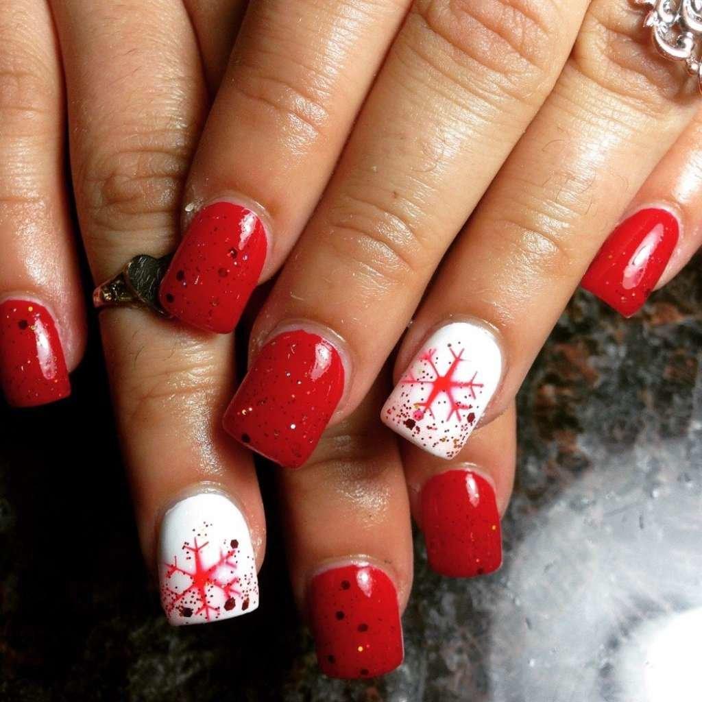 Дизайны ногтей с красным цветом фото