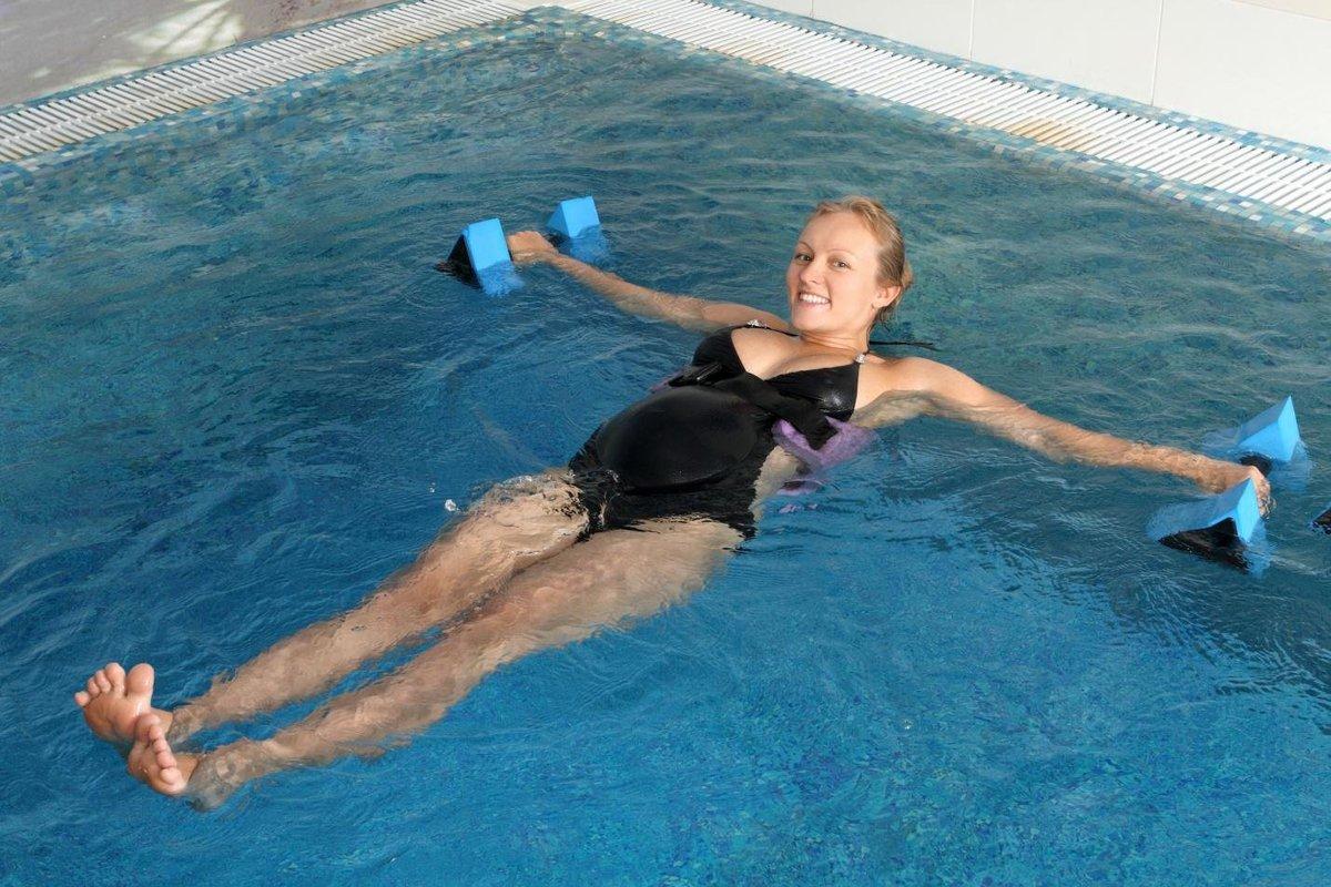 Температура воды в бассейне для беременных в 37