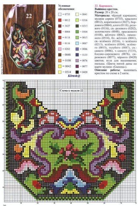Вышивка крестом сумки схемы 96