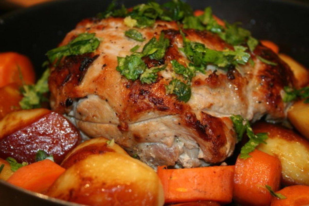 Свинина в фольге с овощами фото пошагово