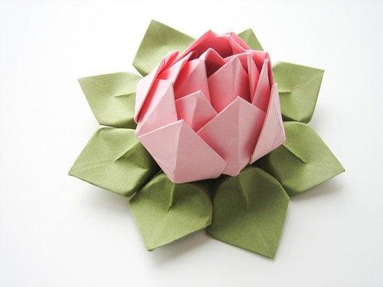 Объёмные цветы из бумаги своими руками оригами 69