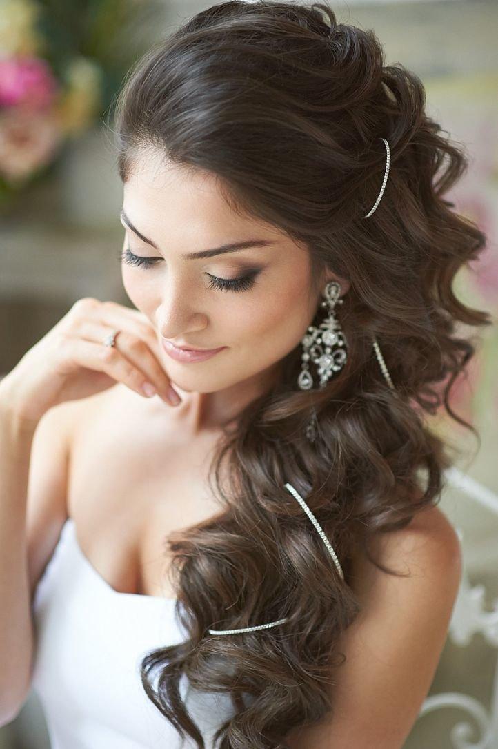 Свадебная прическа волосы сбоку
