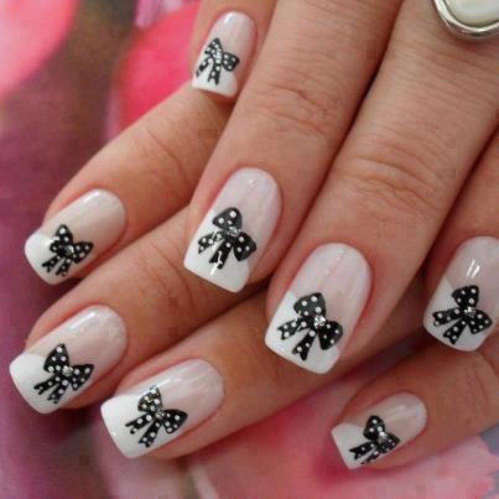 Рисунок маникюр белые ногти