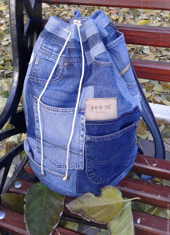 Сумка большая из джинсов своими руками