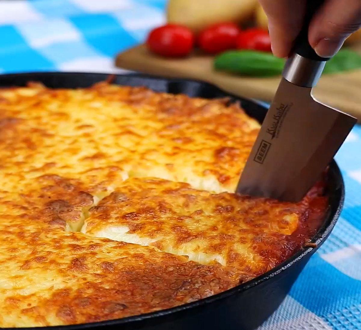Запеканка с картошка с фаршем в духовке рецепт пошагово
