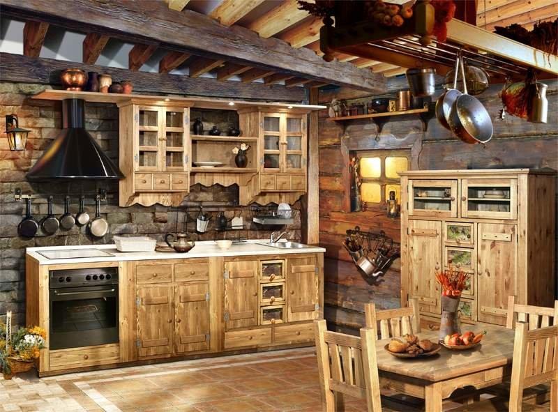 Кухня дизайн под старину