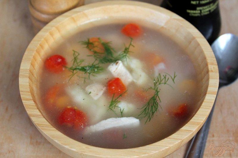 суп из курицы с капустой и помидорами